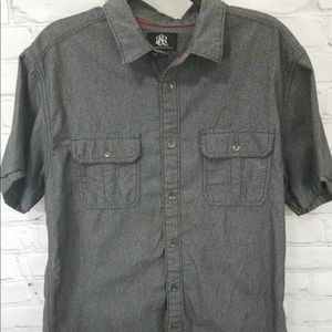 Rock & Republic Mens Size L Gray Shirt Casual